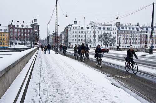 Winter cycling in Copenhagen